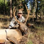 Marc K with his 20 minute hunt, he had really nice bull flare and then this young bull hung around a little to long.
