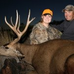 Alyssa C with an Eastern Oregon Mule Deer taken in 2013 with Sarvis Prairie Outfitters