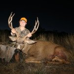 Alyssa C with her first Mule Deer; Great 4x4 taken in 2013 with SPO